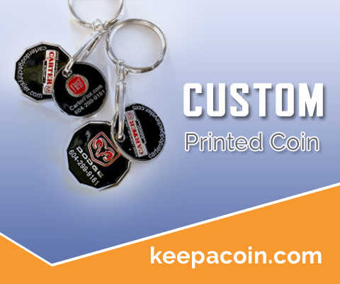 custom imprinted coin